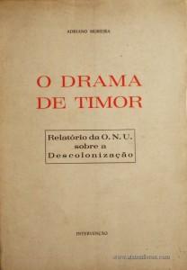 O Drama de Timor - Relatório O.N.U Sobre a Descolonização