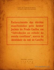 """Esclarecimento das Dúvidas Manifestadas Pelo Senhor Jacinto do Prado Coelho, em """"Introdução ao Estudo da Novela Camiliana"""", Acerca da Identidade da Mãe de Camillo"""