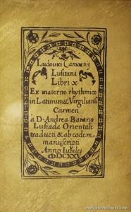 Os Lusíadas de Luís de Camões Traduzidos em Versos Latinos