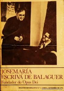 Boletim n.º 1 - Fundação do Opus Dei - 1976 - «€5.00»