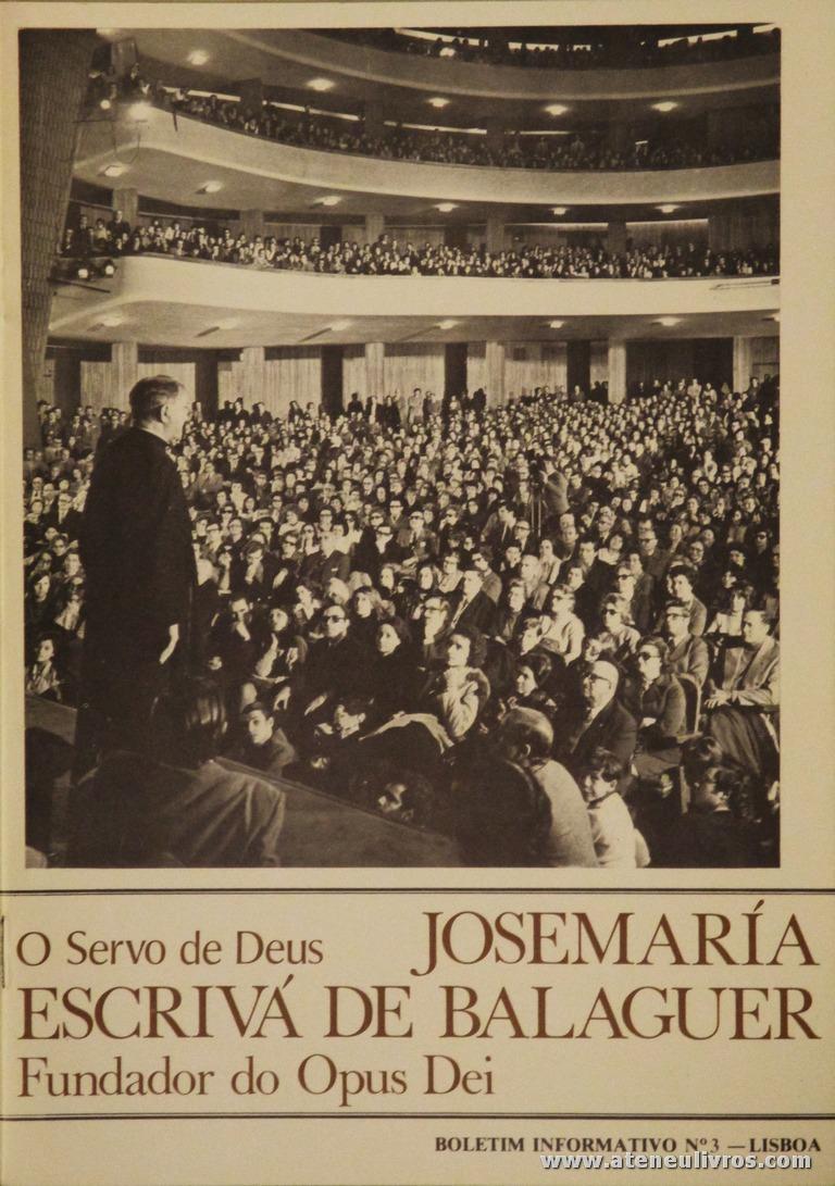 Boletim n.º 3 - Fundação do Opus Dei - 1980 - «€5.00»