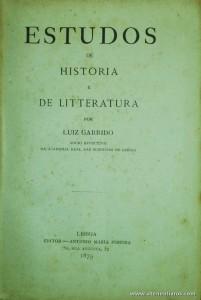 Estudos de História de Litteratura