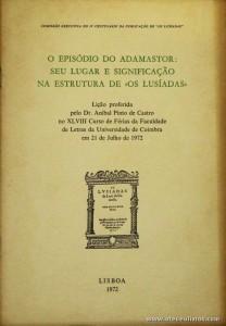 O Episódio do Adamastor: Seu Lugar e Significação na Estrutura de «Os Lusíadas»