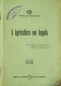 A Agricultura em Angola (Breve Resumo Sobre os Recursos Agrícolas da Província de Angola)