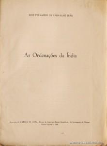 As Ordenações da Índia