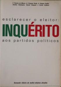 Esclarecer o Eleitor: Inquérito aos Partidos Politicos
