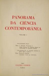 Panorama da Ciência Contemporânea