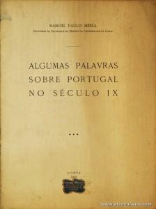 Algumas Palavras Sobre Portugal no Século IX