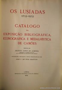 Catálogo da Exposição Bibliográfica Iconográfica e Medalhistica de Camões