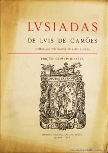 Lusíadas de Luis de Camões Comentadas Por Manuel de Faria e Sousa