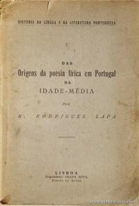 Origens da Poesia Lírica em Portugal na Idade - Média