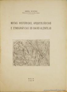 Notas Históricas, Arqueológicas e Etnográficas do Baixo Alentejo
