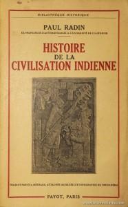 Histoire da la Civilisation Indienne