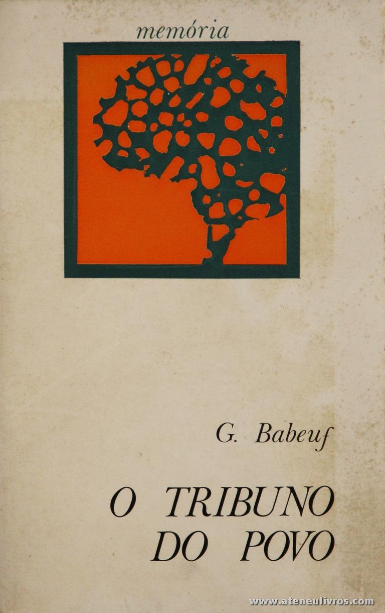 G. Babeuf - O Tribuno do Povo «€5.00»