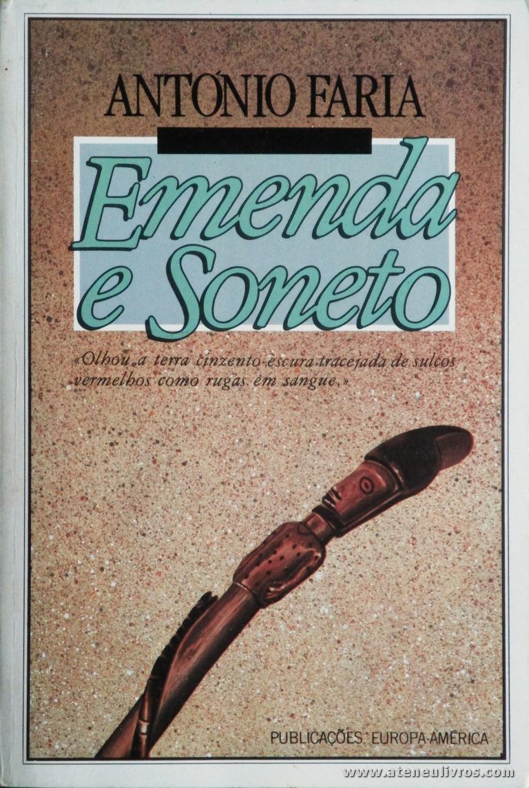António Faria - Ementa e Soneto «€5.00»