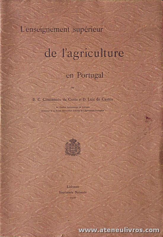 L'Enseignement Supérieur de L'Agriculture en Portugal