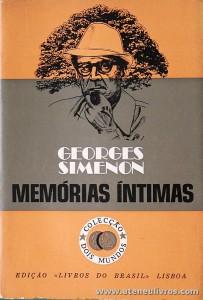 Georges Simenon - Memórias Íntimas - «€5.00»