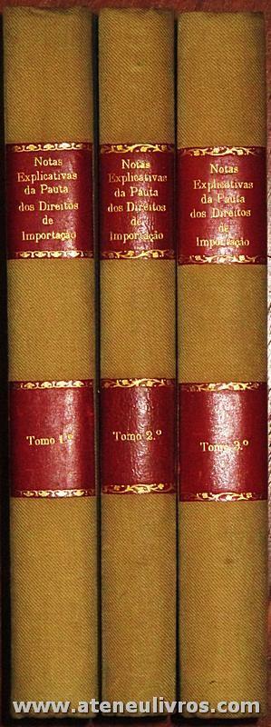 Notas Explicativas da Pauta dos Direitos de Importação