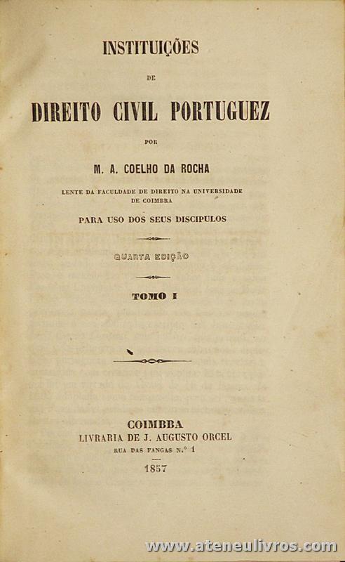 Instituição de Direito Civil Portuguez