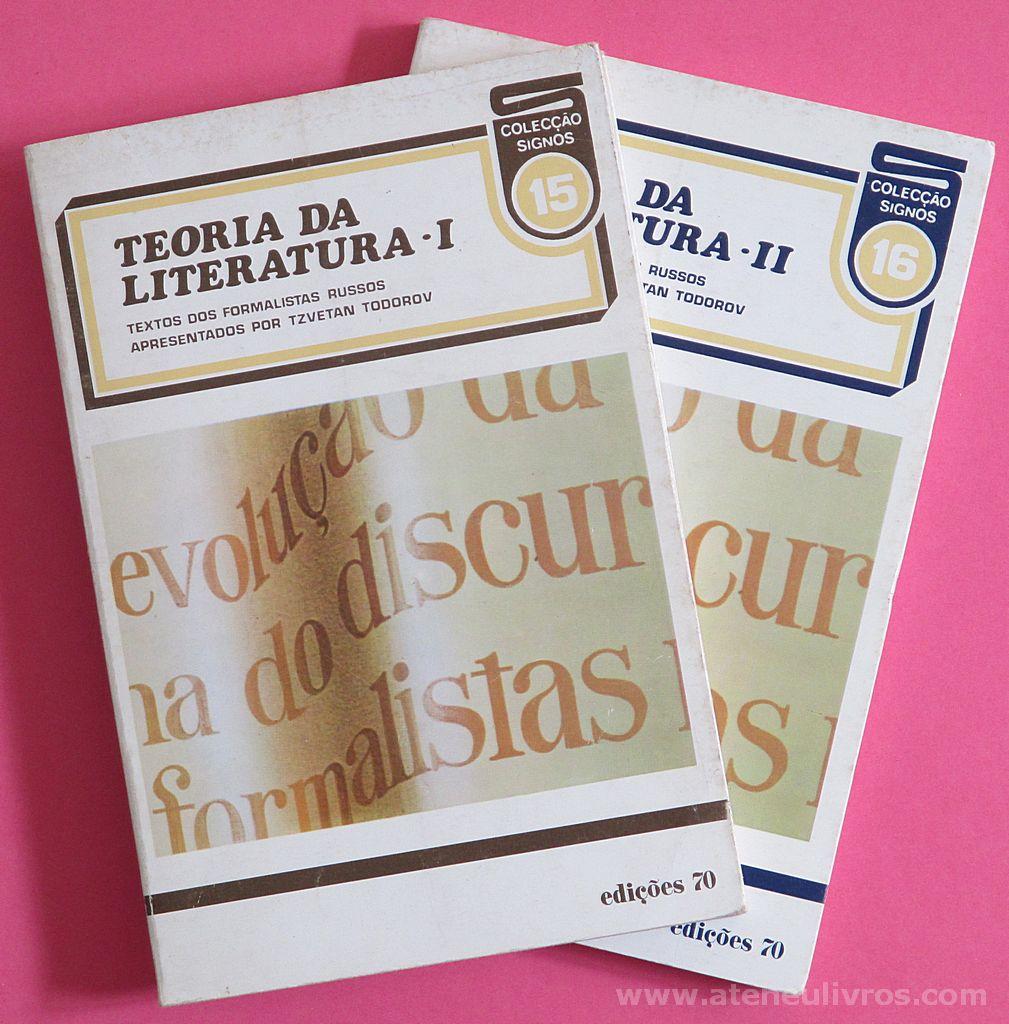 Tzvetan Todorov - Teoria da Literatura I & II - Edições 70 - Lisboa - 1965. Desc. 171 + 201 pág / 20 cvm x 13,5 cm / Br.