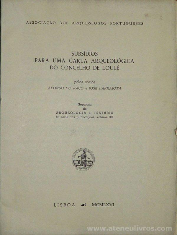 Subsídios Para Uma Carta Arqueológica do Concelho de Loulé