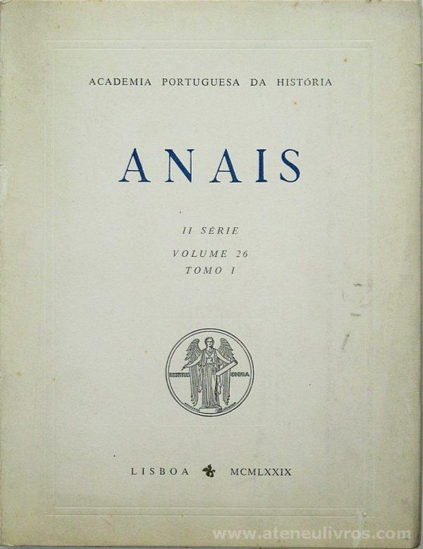 Anais II Série [Volume 26 Tomo I]