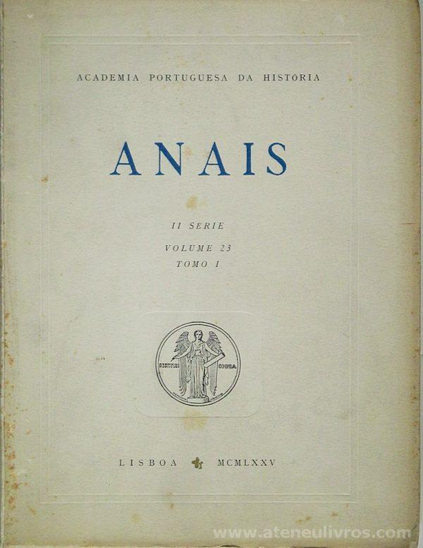 Anais II Série Volume 23 [Tomo I ]