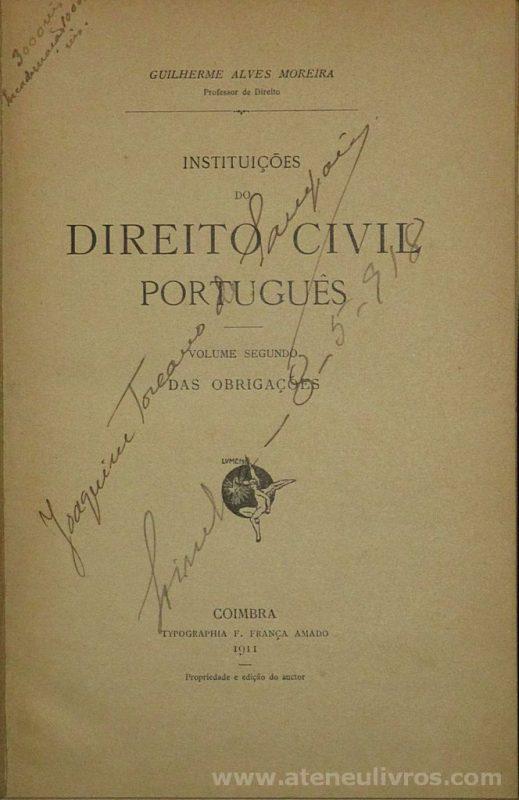 Instituições do Direito Civil Português